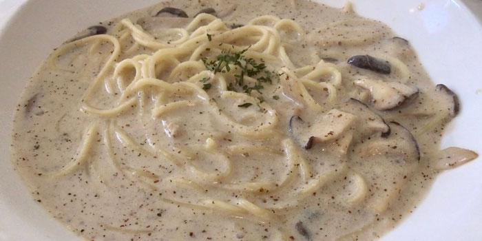 Soymilk perilla mushroom pasta