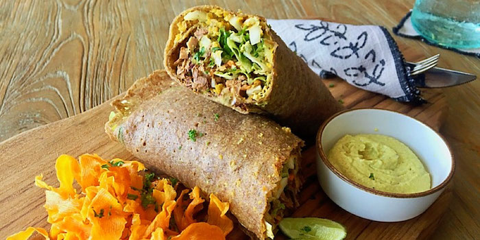 jackfruit wrap at zest ubud