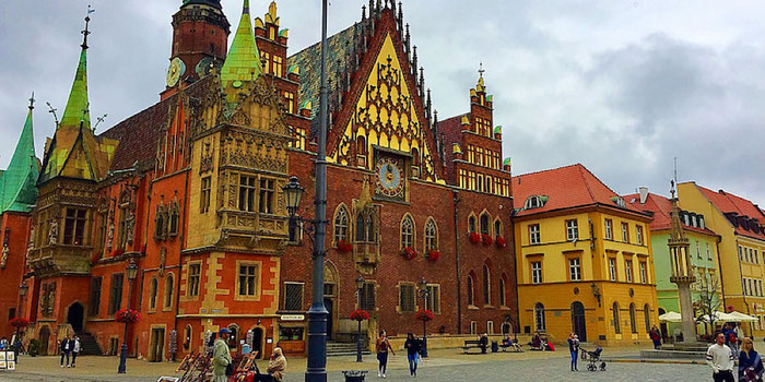 Gothic cathedral Wroclaw