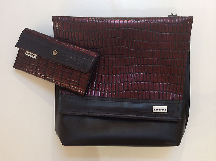 Tasche und Geldbörse aus Plane