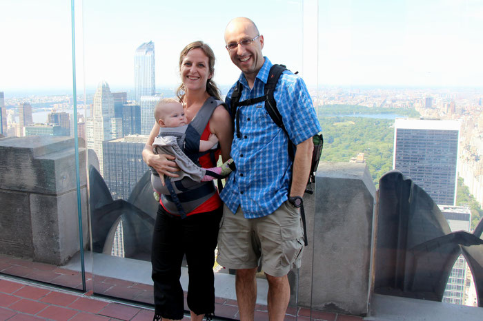 Top of the Rock at Rockefeller Center Observation Deck - Travel with a baby to NYC