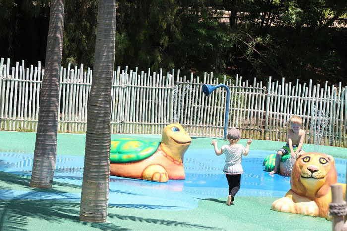 San Diego Zoo Safari Park Spray Zone - Travel San Diego With a Baby