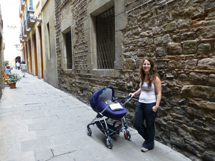 Barcelona with baby and rented stroller