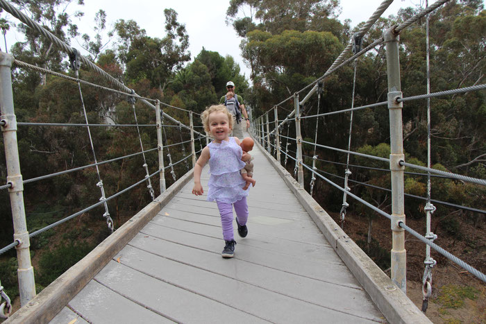 Spruce St Suspension Bridge San Diego - Travel California With a Baby