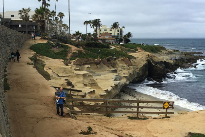 La Jolla cove - Travel to San Diego with baby & toddler
