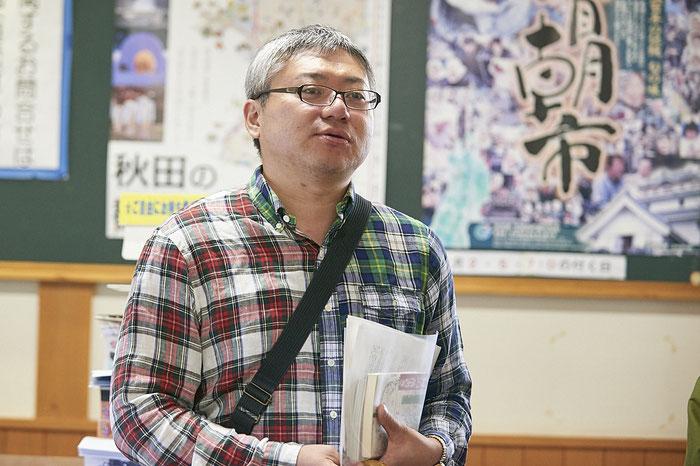 2016年のAKBI plusで畠山鶴松の紹介をしてくださった小松さん。それが2017年のこの日の企画に結びついた。