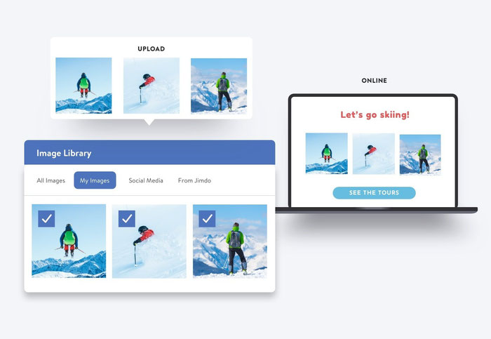 Usa la funzione Carica immagini del tuo sito Dolphin