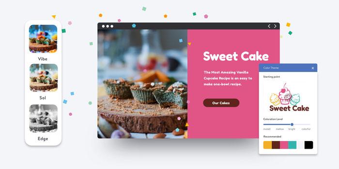 adattamento dei colori del sito Dolphin al brand e filtri per le immagini