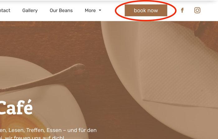 Nuovo bottone call to action nel menu di navigazione del tuo sito Jimdo Dolphin
