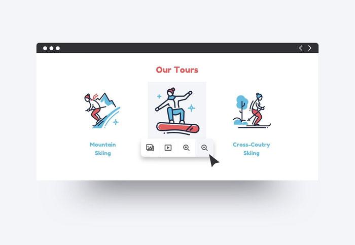 Usa delle icone per rendere più efficace il design del tuo sito Jimdo Dolphin