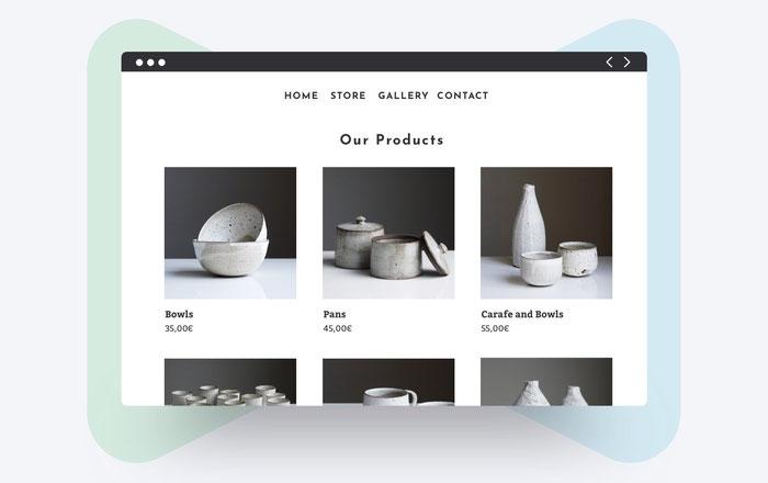 Prodotti nello shop online creato con Jimdo Dolphin