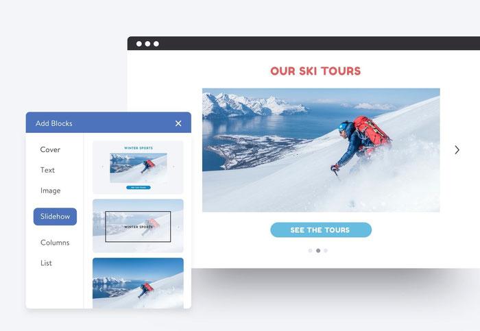 Puoi usare la funzione slideshow sul sito Dolphin per evidenziare le immagini