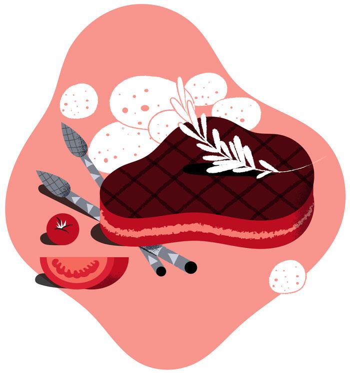 Bistecca argentina in salsa di vino rosso