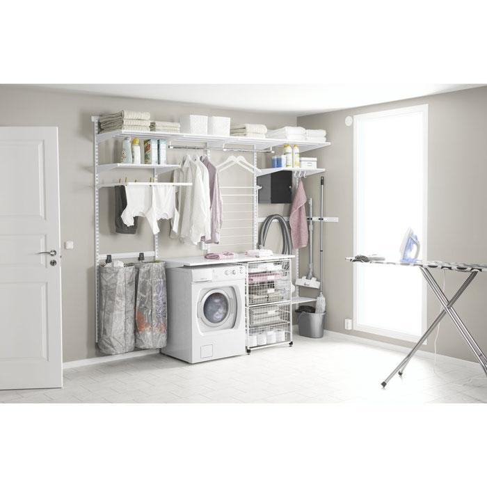 Waschküche und Hauswirtschaftsraum einrichten mit einem Elfa Aufbewahrungssystem