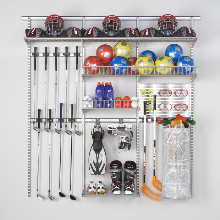 Elfa Aufbewahrungssystem für Ihre Garage - stabil, flexibel und mit viel praktischem Zubehör