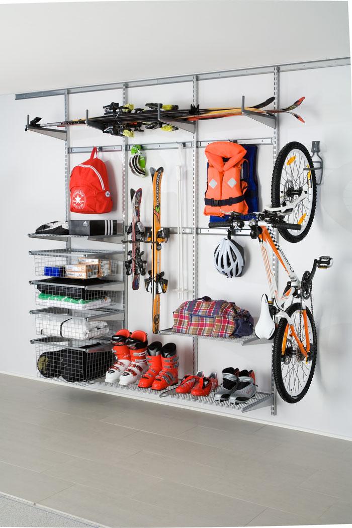Garage optimal einrichten mit einem Elfa Aufbewahrungssystem und Elfa Utility