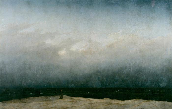 Der Mönch am Meer Caspar David Friedrich, 1808–1810 (Zustand vor der Restaurierung) Öl auf Leinwand 110× 171,5cm Alte Nationalgalerie