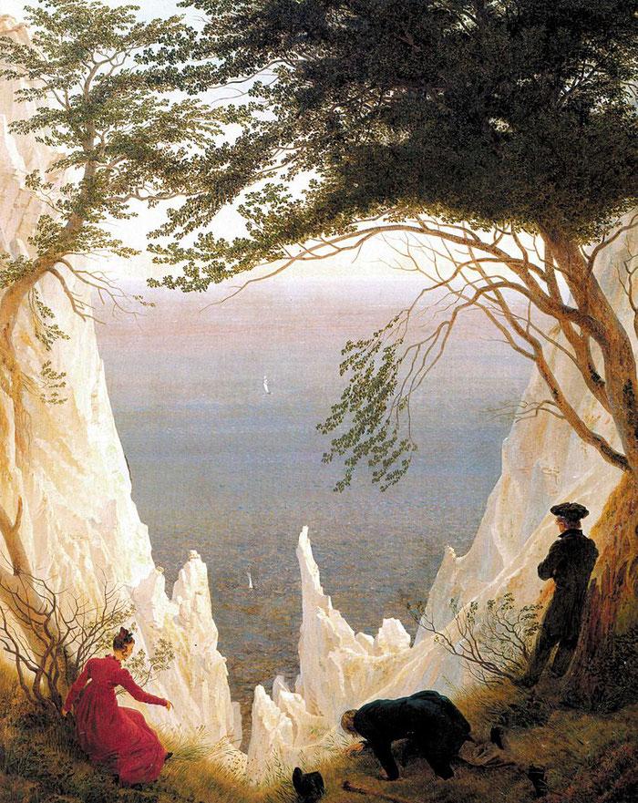"""Casper David Friedrich (1774-1840) , """"Kreidefelsen auf Rügen"""", 1818, 90,5 x 71 cm, Öl auf Leinwand, Sammlung Oskar Reinhardt, Winterthur, Schweiz"""