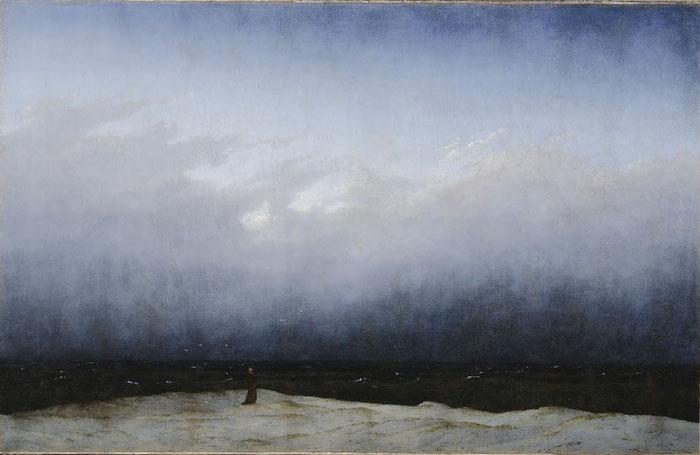 Der Mönch am Meer Caspar David Friedrich, 1808–1810 (Zustand nach der Restaurierung 2015) Öl auf Leinwand 110× 171,5cm Alte Nationalgalerie, Berlin