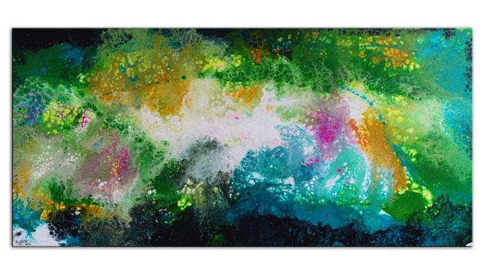 Sternenexplosion Wandbild abstrakte Malerei Kunst Bilder handgemalt 140x80