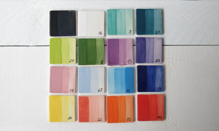 Große Auswahl an Farben