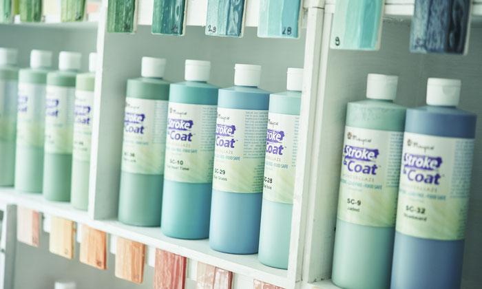 Große Auswahl an Farben und Keramik