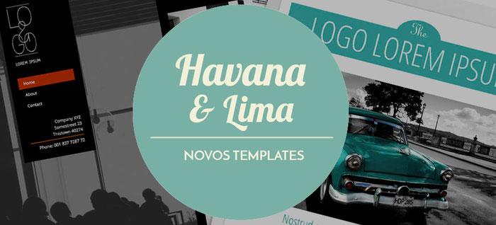 Havana e Lima novos templates Jimdo