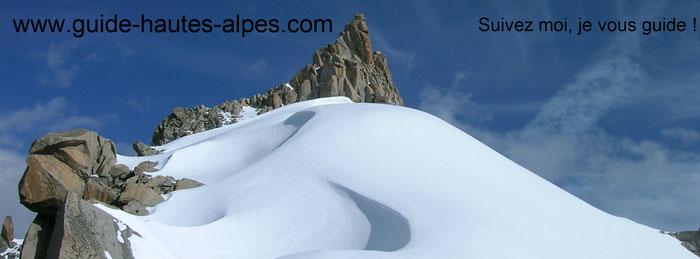 guide de haute montagne-alpinisme-arête midi plan