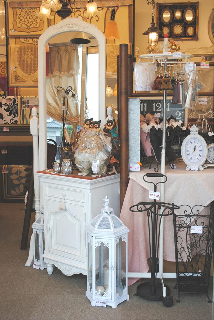 白家具 フランス家具 プロヴァンス家具 スタンドミラー