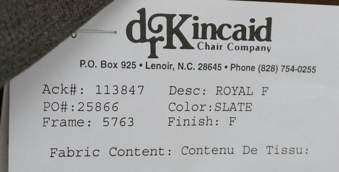 D R Kincaid Chair Company