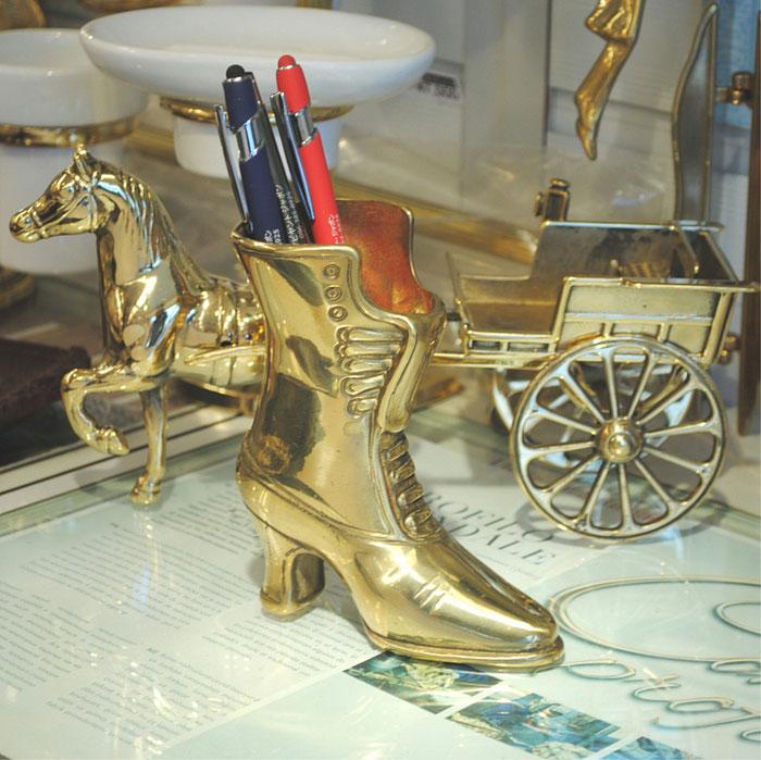 ブーツ 靴 パスタスケール ペン立て 388286 真鍮 ブラス STILARS スティラーズ イタリア製 真鍮雑貨 アンティーク調 雑貨