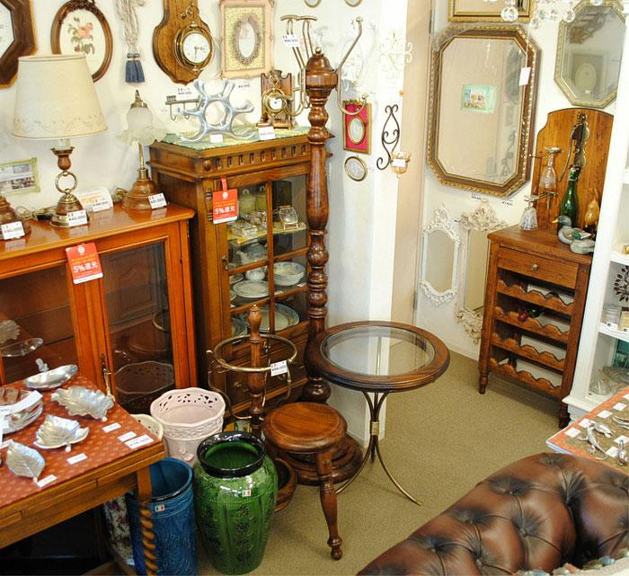コートハンガー 時計 サイドテーブル 丸テーブル 輸入家具 古木 イタリア製 クラシック家具 アンティーク カパーニ CAPANNI
