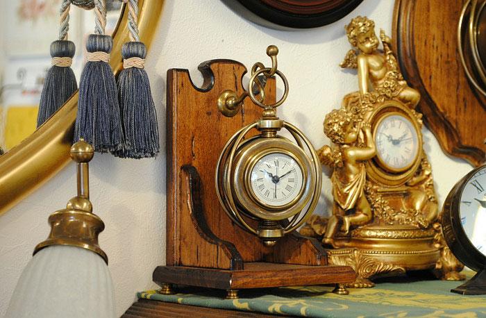 時計 置時計 テーブルクロック 古木 イタリア製 カパーニ