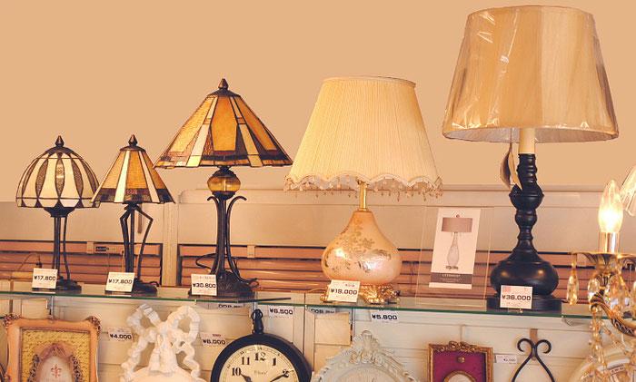 テーブルランプ インテリアランプ ステンドグラスシェードランプ ミニランプ フリンジシェードランプ アメリカ製 インテリア 雑貨 照明器具 卓上ランプ クラシック
