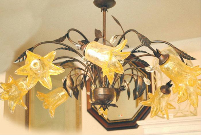 シャンデリア シャンデリアランプ 8灯 オシャレ おしゃれ アンティーク クラシック ガラスシェード 照明 照明器具 ランプ