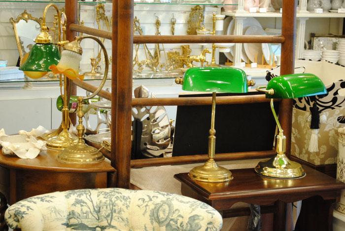 バンカーズランプ テーブルランプ イタリア製 インテリア雑貨 真鍮雑貨