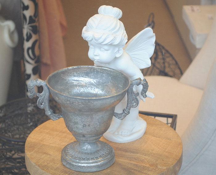 銀杯 カップ アンティーク インテリア雑貨 妖精 フェアリー