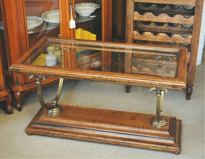 センター テーブル ローテーブル おしゃれ コーヒーテーブル ガラス天板 テーブル カクテルテーブル 木製 イタリア製 古木 真鍮 カパーニ アンティーク CAPANNI 送料無料