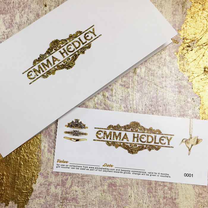 Emma Hedley Jewellery Gift Vouchers Available Now