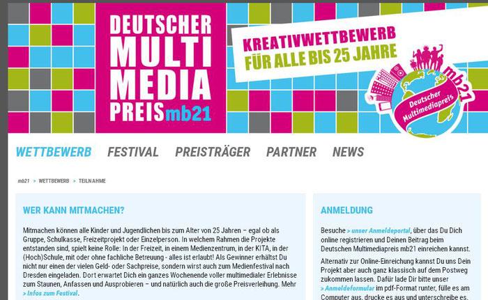 """Deutscher Multimediapreis mb21 2016 - auch hier waren unsere Chancen natürlich äußerst gering /// Ergebnis: """"Die Vorjury fand Idee und Ansatz Ihres Projekts sehr spannend. Leider konnten Qualität und Vokabular der Erklär-Videos nicht genug überzeugen."""""""