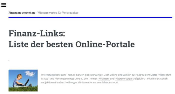 """Hinweis auf unser Webangebot auf dem Online-Portal """"Finanzen verstehen"""" (Screenshot vom 07.04.2017)"""