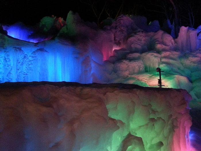 氷点下の森2017.3.17 ライトアップの様子