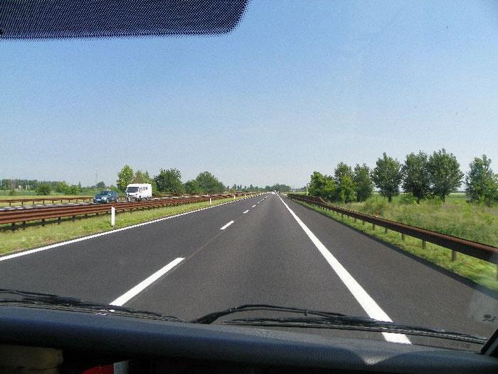 Eine gute Entscheidung heute Heim zu fahren. Straßen wunderbar frei.