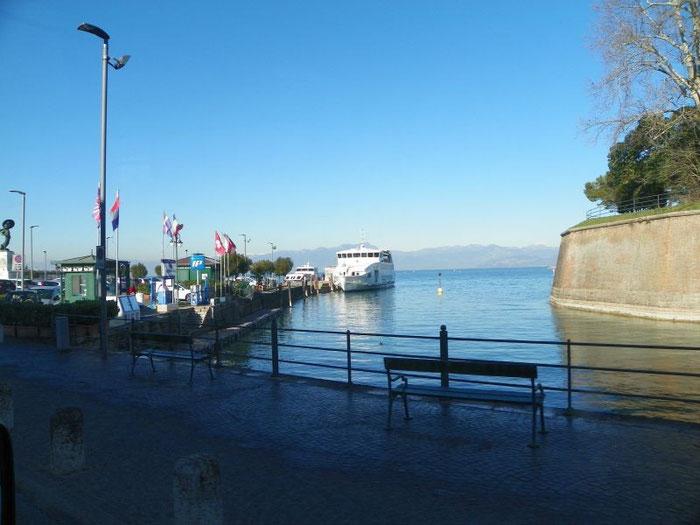 genau in Peschiera - wieder am Gardasee, so schließt sich der Kreis