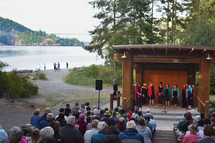 Dunava performing at Deception Pass State Park in summer 2019
