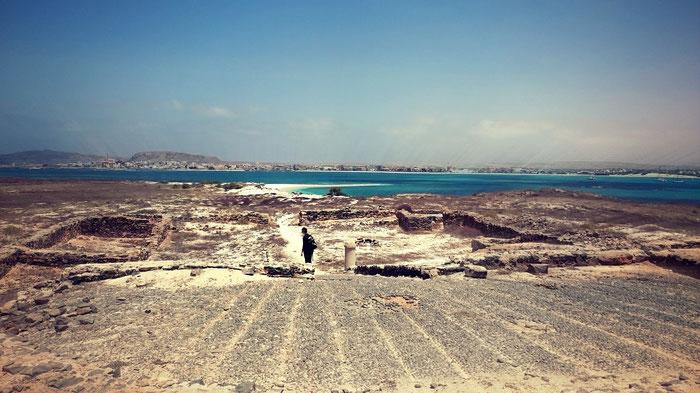 Mia exploring Islet of Sal Rei