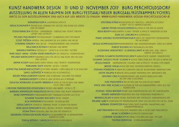 Folder KUNST HANDWERK DESIGN, Innenseiten