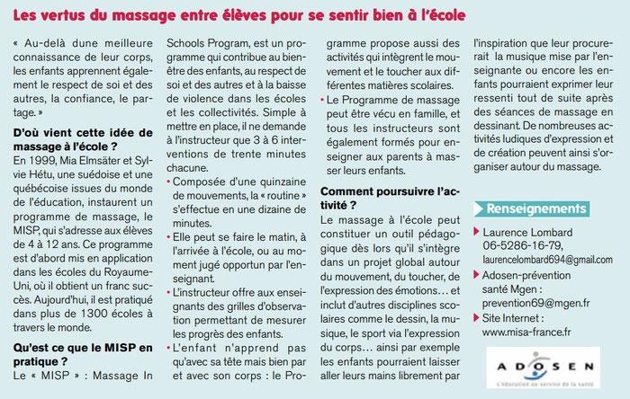 Magazine des adhérents de la MGEN (Mutuelle Générale de l'Education Nationale) du Rhône -  Septembre 2014