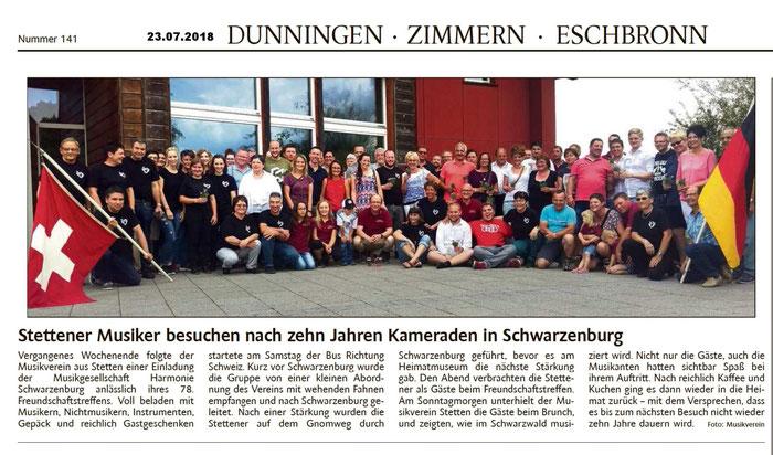 Schwarzwälder Bote 22.06.2018