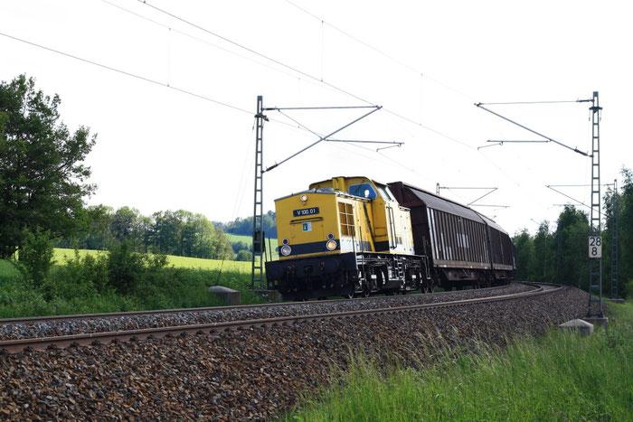 V100.01 (202 481) mit leerem Papierzug bei Colmnitz